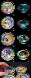Glow in the Dark Reef Glass Cups by PepperTreeArt