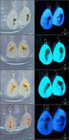 Koi Glow Earrings by PepperTreeArt