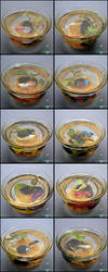 Miniature Betta Cups (Fake Fish!) by PepperTreeArt