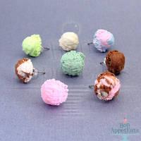 New Ice Cream Scoop Earrings by PepperTreeArt
