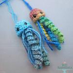Hanging Crochet Jellyfish by PepperTreeArt