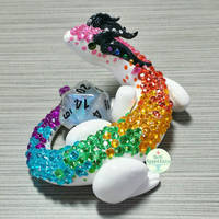 Rainbow Dragon Dice Holder by PepperTreeArt