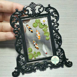Koi Pond Picture Frame, Version 1 by PepperTreeArt