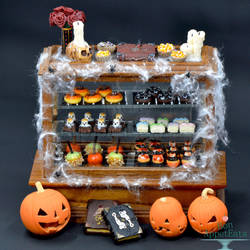 2017 Halloween Bakery Display by PepperTreeArt