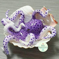 Commission- Realistic Purple Octopus Seashell Pond by PepperTreeArt