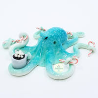 Gift - Octopus Ornament by PepperTreeArt