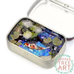 Calico Koi Fish Galaxy Altoids Smalls Pond by PepperTreeArt