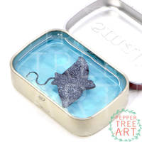 Spotted Eagle Ray Altoids Smalls Pond by PepperTreeArt