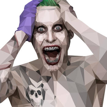 Jared Leto Joker Low Poly by Caen-N