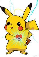 Pikachu Sacred Heart by Caen-N