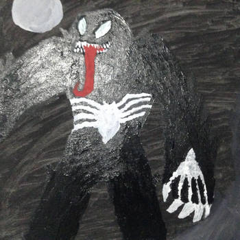 Abstract Painting of Venom by Alfredo0100