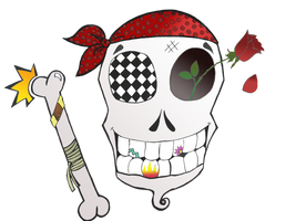 Funky Skull by LadyEloise