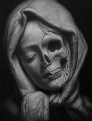 Study of a sculpture (Oil on panel) by KaradjinovicMarko