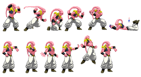 Super Buu (Gotenks absorbed) sprites by barker09