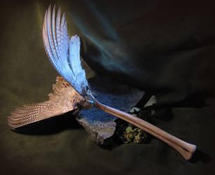 Avian Spectre Smudging Fan or Wand by bonegoddess