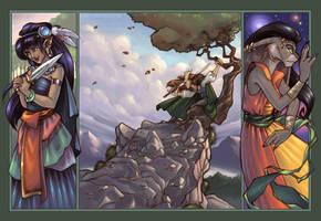 Ademus Triptych by bonegoddess