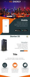 Full Landing Page Mockup - HG ENERGY by xS1ngh