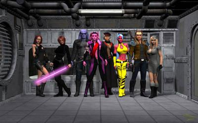 Darkside Elite Key Characters by jpapasso