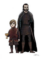 Tyrion and Bronn by adamVW