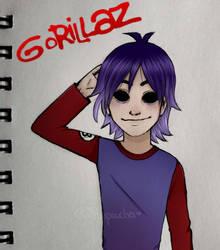2D -Gorillaz- by Whiter028