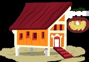 MLP Resource: Applejack's Chicken Coop by Lahirien