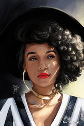 Janelle Monae - paint study by Courtney-Crowe
