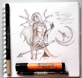 Fem!Chronos_Pen and marker challenge :v by CutiChan