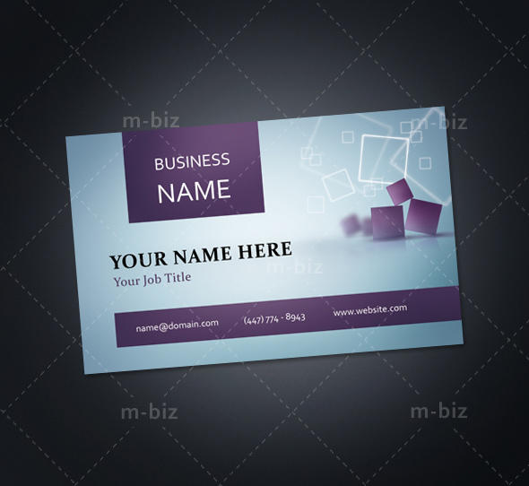 Single Sided Business Card by m-biz