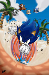 Sonic The Hedgehog by SemiAverageArtist