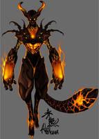 flame demon by akakuma