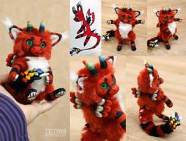 Red Dutch Angel Dragon Doll 1 by KrafiCat