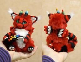 Red Dutch Angel Dragon Doll 2 by KrafiCat