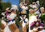 Fox fursuit [OPEN] lilac-beige fox by KrafiCat