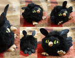 Black owl ball doll 1 by KrafiCat