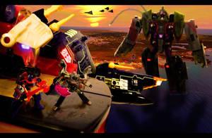 Battle at Sea - Autobots vs. Decepticons by SUnicron