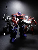 Prime, Ironhide and Kup by SUnicron