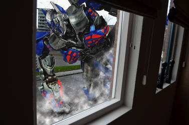 Optimus in the street by SUnicron