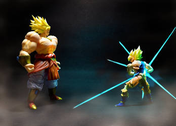 Broly vs Goku by SUnicron