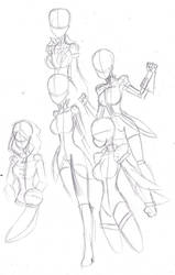 Outfit sketches by heavy147