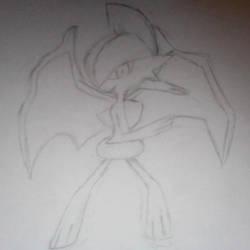 Light Devil Gallade Drawing by Salmushi