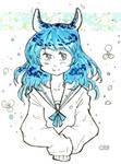 Blue Bunny by CrimsonKingArt