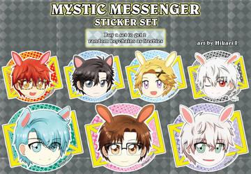 MysticMessenger - sticker set by Hikari-Inori927