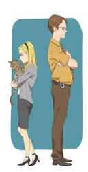 Angela and Dwight by akol3850