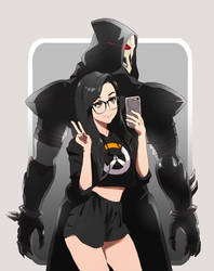 SSSniperwolf and Reaper by akol3850