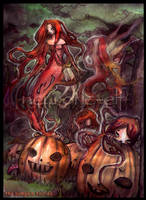 the pumpkin fairies.. by neurotic-elf