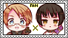 America x Japan stamp by MikiAzuma