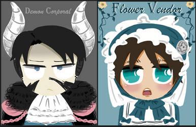 .:Demon_Corporal_and_Flower_Vendor:. by HimariTachibanaHina