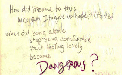 Suicidal Ideation with a Plan (Handwritten) by princesswanderer