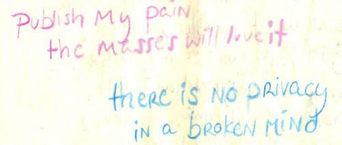 Publish My Pain by princesswanderer
