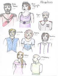 Athenians from Midsummer NIght's Dream by princesswanderer
